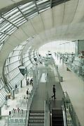 Departure gates at Suvarnabhumi International Airport, Bangkok, Thailand (Model Released MR4)