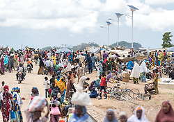 30 May 2019, Mokolo, Cameroon: Today is market day, and refugees and host communities alike gather to sell and buy goods in Minawao. The Minawao camp for Nigerian refugees, located in the Far North region of Cameroon, hosts some 58,000 refugees from North East Nigeria. The refugees are supported by the Lutheran World Federation, together with a range of partners.