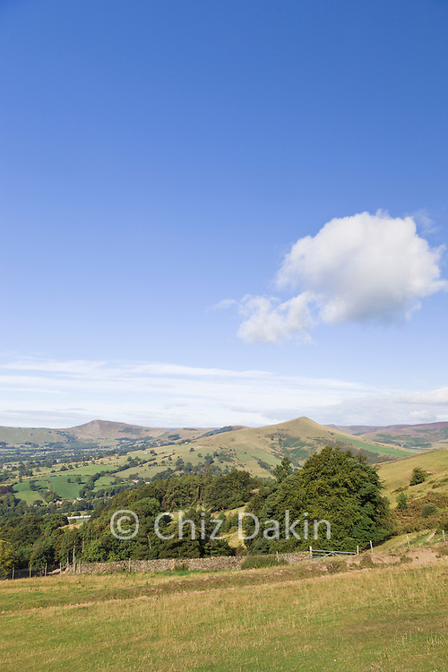 Looking across to Mam Tor (from the steep slope above Twitchells Farm) on the way up Win Hill