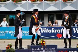 Sprehe, Kristina (GER);<br /> Schneider, Dorothee (GER);<br /> Werth, Isabell (GER) <br /> Balve - Optimum 2016<br /> © Stefan Lafrentz