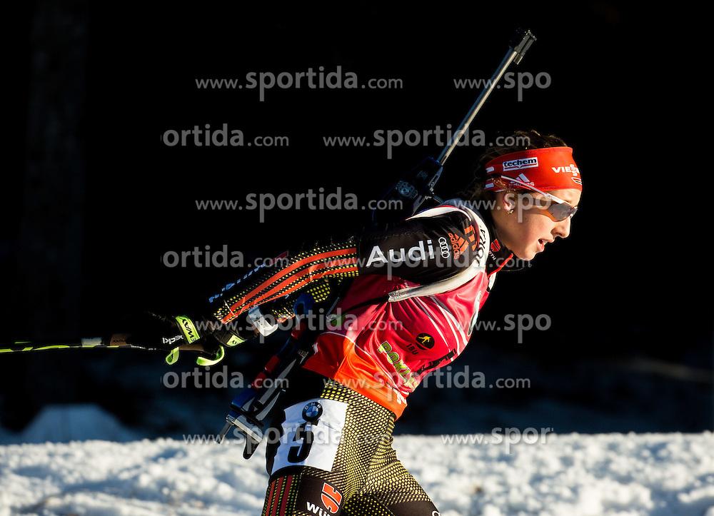 Franziska Preuss (GER)  during Women 12.5 km Mass Start at day 4 of IBU Biathlon World Cup 2015/16 Pokljuka, on December 20, 2015 in Rudno polje, Pokljuka, Slovenia. Photo by Vid Ponikvar / Sportida