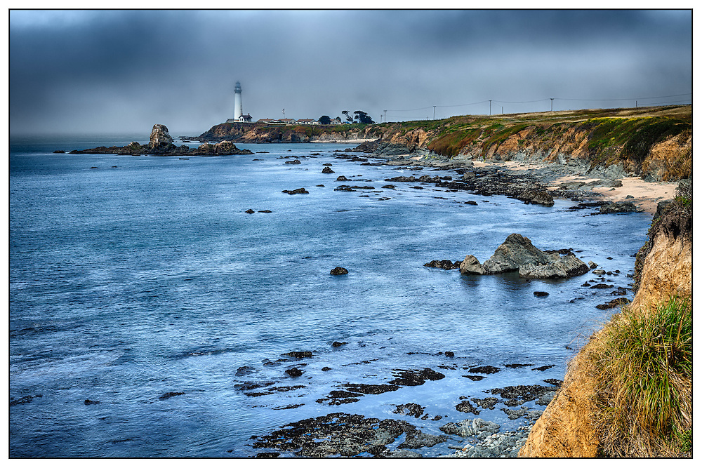 Pacific coast, Pigeon Point lighthouse, early morning, California