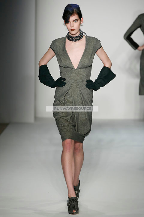 Meghan Collison walks the runway Costello Tagliapietra Fall 2009 collection
