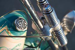 Andrea Radaelli's Radikal Chopper Milano's custom Shovelhead that won LowRide Magazine's Best of Show award at Motor Bike Expo Verona. Photographed in Milan, Italy. Monday January 22, 2018. Photography ©2018 Michael Lichter.