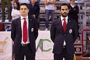 DESCRIZIONE : Ferentino LNP A2 2015-16 FMC Ferentino Acea Roma<br /> GIOCATORE : Federico Fucà<br /> CATEGORIA : allenatore coach inno pre game<br /> SQUADRA : FMC Ferentino<br /> EVENTO : Campionato LNP A2 2015-2016<br /> GARA : FMC Ferentino Acea Roma<br /> DATA : 11/10/2015<br /> SPORT : Pallacanestro <br /> AUTORE : Agenzia Ciamillo-Castoria/G.Masi<br /> Galleria : LNP A2 2015-2016<br /> Fotonotizia : Ferentino LNP A2 2015-16 FMC Ferentino Acea Roma