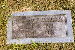 Stouts Grove Cemetery<br /> <br /> William T Aldridge  Oct 5, 1875 - June 1 1952