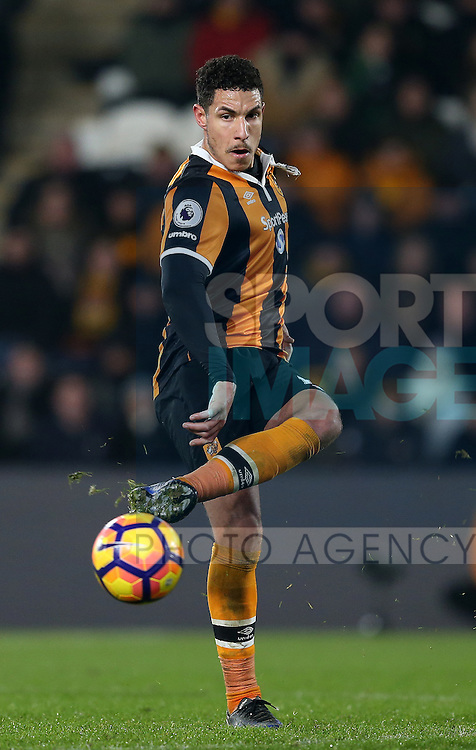 Jake Livermore of Hull City during the English Premier League match at the KCOM Stadium, Kingston Upon Hull. Picture date: December 30th, 2016. Pic Simon Bellis/Sportimage