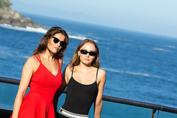 September 22, 2018 - San Sebastian, Spain - Laetitia  Casta (L) and Lily-Rose Depp (R) attend the 'A Faithful Man Photocall' during the 66th San Sebastian Film Festival in San Sebastian on September 22, 2018 in San Sebastian, Spain. (Credit Image: © Manuel Romano/NurPhoto/ZUMA Press)