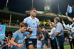 March 9, 2019 - Sydney, NSW, U.S. - SYDNEY, NSW - MARCH 09: Waratahs player Karmichael Hunt (12) runs on to the field at round 4 of Super Rugby between NSW Waratahs and Queensland Reds on March 09, 2019 at The Sydney Cricket Ground, NSW. (Photo by Speed Media/Icon Sportswire) (Credit Image: © Speed Media/Icon SMI via ZUMA Press)