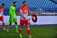 Shaun Hutchinson with Reef during the EFL Sky Bet Championship match between Sheffield Wednesday and Millwall at Hillsborough, Sheffield, England on 7 November 2020.