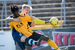 Forfar Athletic's Michael Travis and Annan Athletic's Smart Osadolor. Forfar Athletic 2 v 4 Annan Athletic, Scottish Football League Division Two game played 6/5/2017 at Station Park.