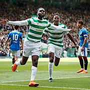 Odsonne Edouard scores for Celtic and celebrates.<br /> Celtic Park, Glasgow, Britain, 29 April 2018. EPA-EFE/ROBERT PERRY