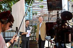 José Fortunati durante gravação para o programa eleitoral de TV, no Chalé da Praça XV. FOTO: Jefferson Bernardes/Preview.com