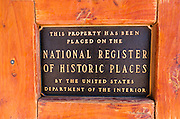 National Historic Site plaque, Tombstone, Arizona USA