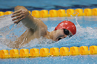 Paralympics London 2012 - ParalympicsGB - Swimming held at the Aquatics Centre  31st August 2012<br />   <br /> Sam Hynd competes in the Men's 400m Freestyle - S8 Heat 1 at the Paralympic Games in London. Photo: Richard Washbrooke/ParalympicsGB)