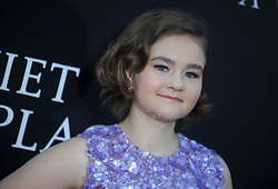 Millicent Simmonds attending the 'A Quiet Place' New York Premiere at AMC Lincoln Square Theater on April 2, 2018 in New York City, NY, USA. Photo by Dennis Van Tine/ABACAPRESS.COM