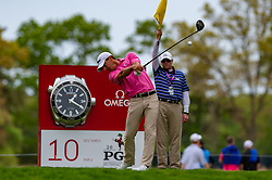May 19, 2019 - Farmingdale, NY, U.S. - FARMINGDALE, NY - MAY 19: Matt Kuchar of the United States of America plays his shot from the tenth tee during Round 4 of the PGA Championship Tournament on May 19, 2019, at Bethpage State Park in Farmingdale, NY (Photo by John Jones/Icon Sportswire) (Credit Image: © John Jones/Icon SMI via ZUMA Press)