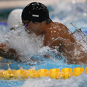 Ryo Tateishi, Japan, in action during the Men's 100m Breaststroke  heats during the swimming heats at the Aquatic Centre at Olympic Park, Stratford during the London 2012 Olympic games. London, UK. 28th July 2012. Photo Tim Clayton