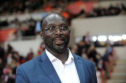 December 28, 2017 - FILE - Former footballer GEORGE WEAH is set to become Liberia's president at the second attempt. With most ballots from Tuesday's run-off vote counted, Mr Weah is well ahead of opponent J. Boakai. He will succeed E. Johnson Sirleaf, Africa's first elected female president, in Liberia's first democratic handover in decades. PICTURED: Feb. 11, 2014 - Monaco, Stade Louis, France - George Weah. (Credit Image: © Panoramic/ZUMAPRESS.com)