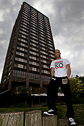 File photo dated 05/05/11 of boxer James DeGale during a photocall at at the Grenfell Tower in west London, where several people died after a huge fire destroyed the tower block with witnesses reporting residents trapped on upper floors as the flames tore rapidly up the building.