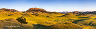 Panoramic of the Bears Paw Mountains in summer in Blaine County, Montana, USA