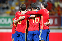 Spain's players celebrate goal during FIFA World Cup 2018 Qualifying Round match. September 5,2016.(ALTERPHOTOS/Acero)