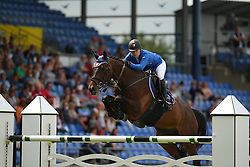 Bosio Tadja, (SLO), Lodonkor<br /> Team Competition round 1 and Individual Competition round 1<br /> FEI European Championships - Aachen 2015<br /> © Hippo Foto - Stefan Lafrentz<br /> 19/08/15