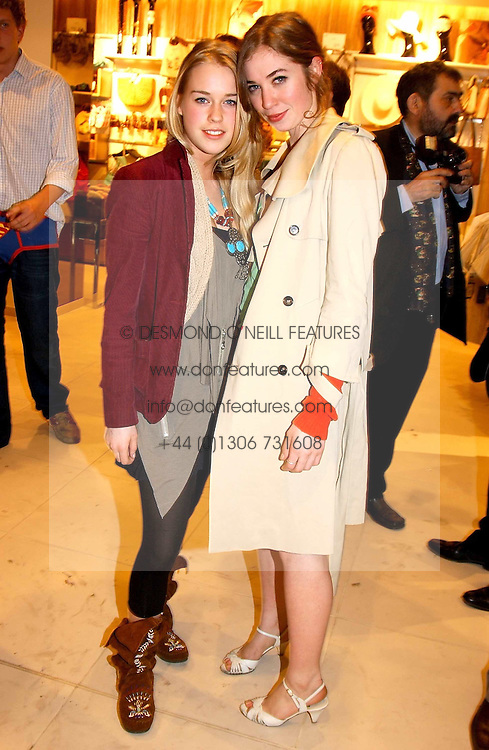 Left to right, MARY CHARTERIS and ANOUSKA GERHAUSER daughter of Tamara Beckwith at a party to celebrate the opening of the new H&M Flagship Store at 17-21 Brompton Road, London SW3 on 23rd March 2005.<br /><br />NON EXCLUSIVE - WORLD RIGHTS