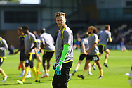 Burton Albion goalkeeper Bradley Collins (40) and the Albion players warm up during the EFL Sky Bet League 1 match between Burton Albion and AFC Wimbledon at the Pirelli Stadium, Burton upon Trent, England on 1 September 2018.