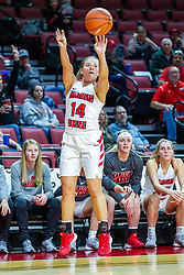NORMAL, IL - November 20: Paige Saylor during a college women's basketball game between the ISU Redbirds and the Huskies of Northern Illinois November 20 2019 at Redbird Arena in Normal, IL. (Photo by Alan Look)