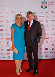 LIVERPOOL, ENGLAND - Tuesday, May 9, 2017: non-Liverpool's executive director Kenny Dalglish and his wife Marina arrive on the red carpet for the Liverpool FC Players' Awards 2017 at Anfield. (Pic by David Rawcliffe/Propaganda)