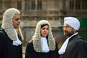 Judges walk to the Palace of Westminster following the annual Judges Service which marks the start of the new legal year at Westminster Abbey in London, United Kingdom on 1st October 2019.