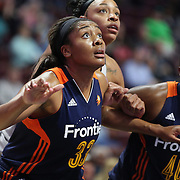 UNCASVILLE, CONNECTICUT- MAY 05:  Morgan Tuck #33 of the Connecticut Sun in action during the San Antonio Stars Vs Connecticut Sun preseason WNBA game at Mohegan Sun Arena on May 05, 2016 in Uncasville, Connecticut. (Photo by Tim Clayton/Corbis via Getty Images)