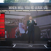 Speakers MP Iain Duncan Smith demand the law protest Leasehold Laws. Stop used Leaseholder as endless cash cows, Parliament Square on 2021-09-16, London, UK.