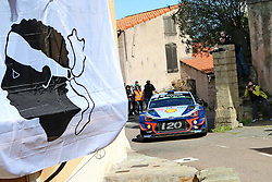 April 7, 2018 - Corse, France - CORSICA Linea - TOUR DE CORSE 2018 Thierry NEUVILLE, Nicolas GILSOUL HYUNDAI i20 COUPE WRC (Credit Image: © Panoramic via ZUMA Press)