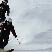 Team Jackson Hole Ski Patrol Drew Kneeland and Kyle MacDowell making 8's.