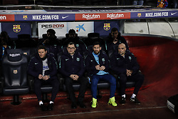 February 6, 2019 - Barcelona, Spain - 10 Leo Messi of FC Barcelona on the bench during the semi-final first leg of Spanish King Cup / Copa del Rey football match between FC Barcelona and Real Madrid on 04 of February of 2019 at Camp Nou stadium in Barcelona, Spain  (Credit Image: © Xavier Bonilla/NurPhoto via ZUMA Press)