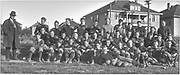 """""""The 1915 football squad of W. H. S."""" (Negative is masked with black paper tape to crop)"""