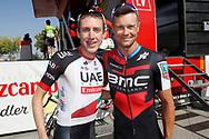 Daniel Martin (IRL - UAE Team Emirates), Nicolas Roche (IRL - BMC) , during the UCI World Tour, Tour of Spain (Vuelta) 2018, Stage 8, Linares - Almaden 195,1 km in Spain, on September 1st, 2018 - Photo Luis Angel Gomez / BettiniPhoto / ProSportsImages / DPPI