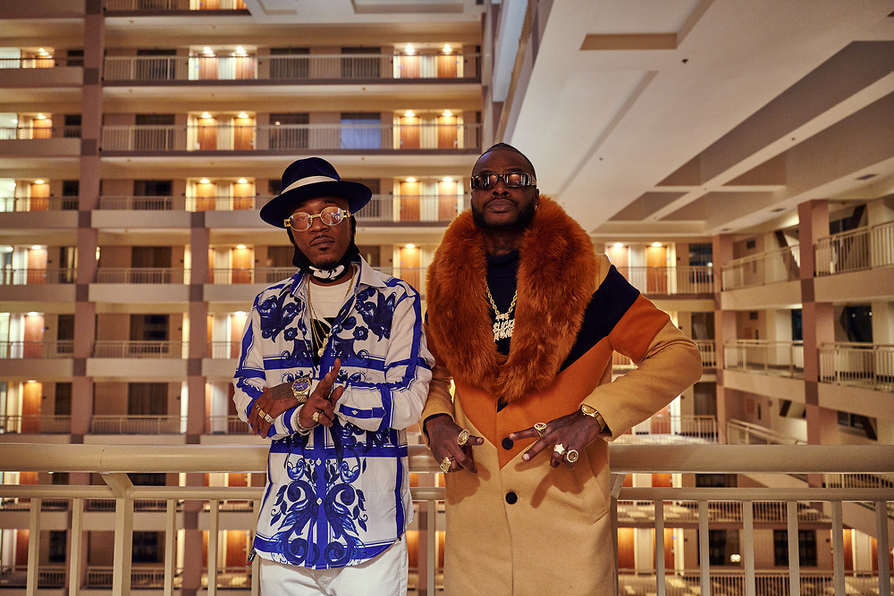 Lo Deezy and Lil Sodi at Bishop Don Magic Juan's 46th Annual Players Ball held in Atlanta, December 2020.