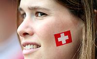 GEPA-0706086022 - BASEL,SCHWEIZ,07.JUN.08 - FUSSBALL - UEFA Europameisterschaft, EURO 2008, Schweiz vs Tschechien, SUI vs CZE. Bild zeigt einen Fan der Schweiz.<br />Foto: GEPA pictures/ Philipp Schalber
