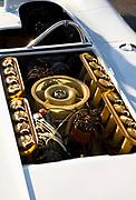 Image of a 16 cylinder Prototype motor and engine, Porsche 917 Spyder at the Rennsport Reunion III at Daytona International Speedway, Daytona, Florida, American Southeast by Randy Wells
