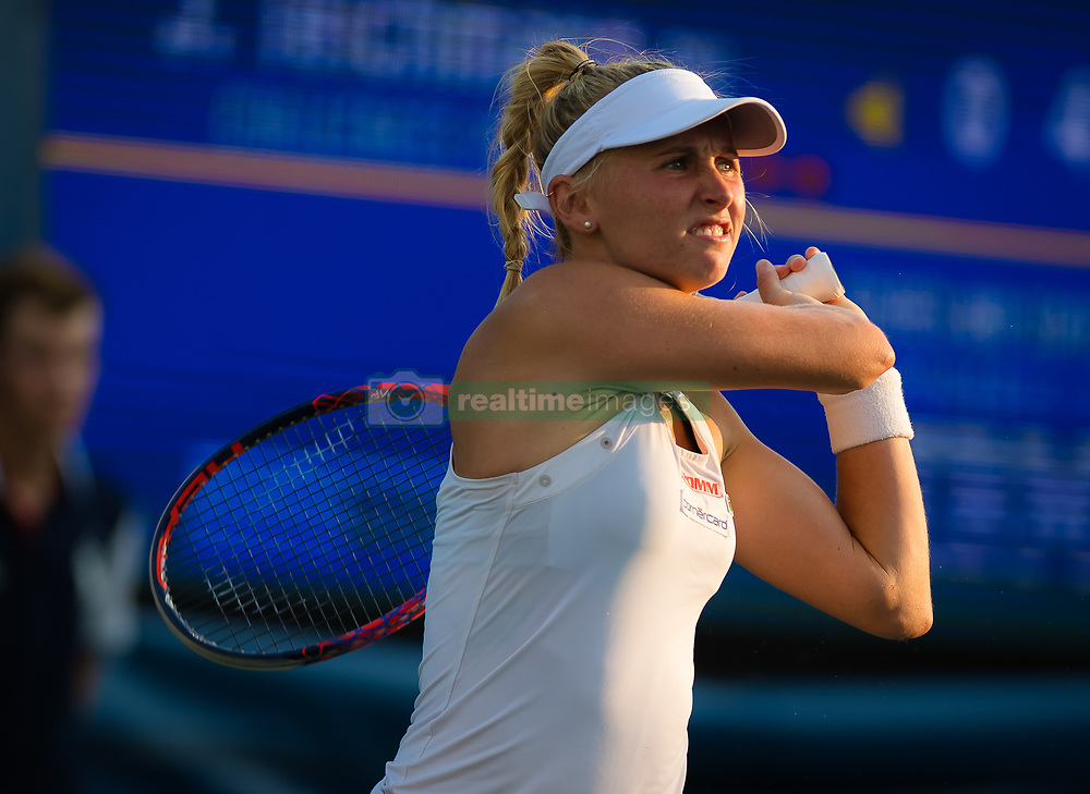 August 29, 2018 - Jil Teichmann of Switzerland in action during her second-round match at the 2018 US Open Grand Slam tennis tournament. New York, USA. August 29th 2018. (Credit Image: © AFP7 via ZUMA Wire)
