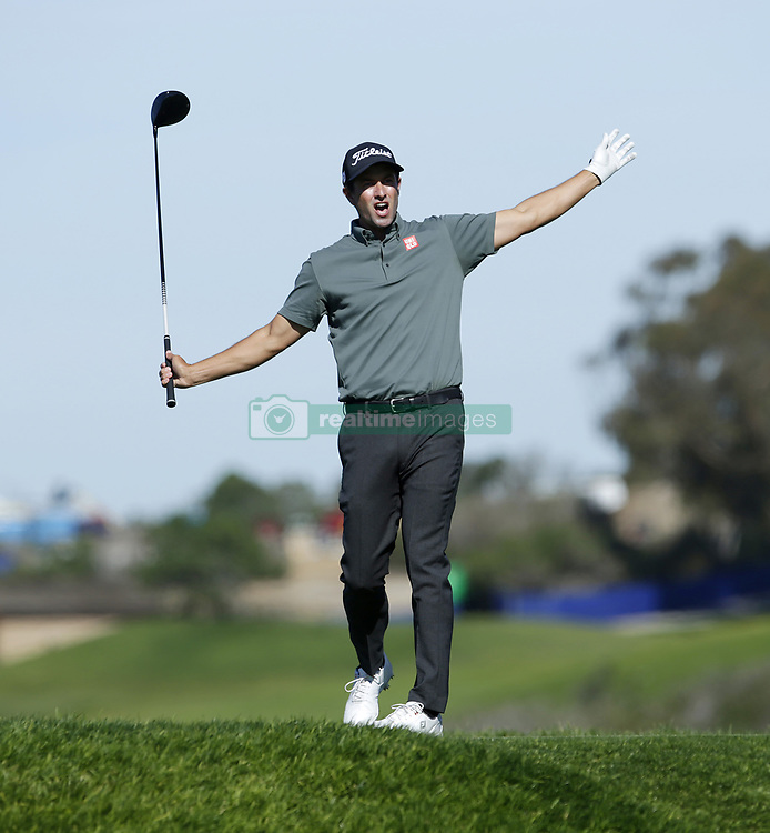 January 27, 2019 - San Diego, CA, USA - Adam Scott tees off on the 5th hole during the fourth round of the Farmers Insurance Open at the Torrey Pines Golf Course in San Diego on Sunday, Jan. 27, 2019. (Credit Image: © K.C. Alfred/San Diego Union-Tribune/TNS via ZUMA Wire)