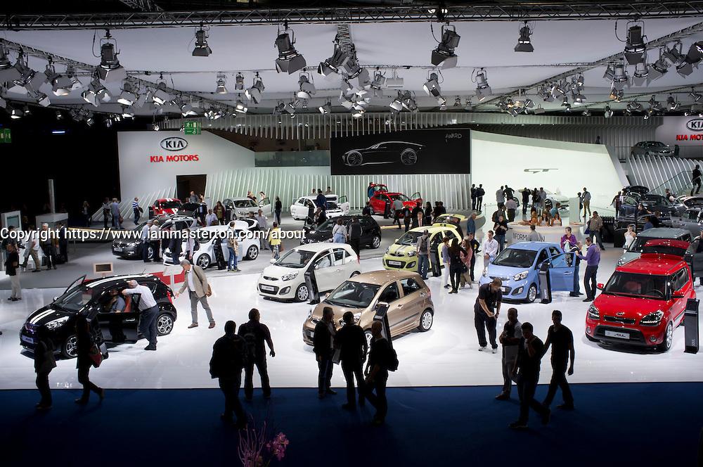 KIA stand at Frankfurt Motor Show or IAA 2011 in Germany