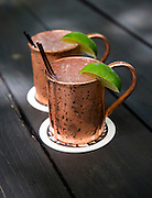 A Moscow Mule at the Wickman House in Ellison Bay, Wisconsin on Thursday July 14, 2016. Photos by Mike Roemer