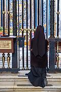 Worshipping in the Interior of Basilica di Santa Maria Maggiore, Rome, Italy