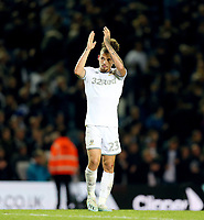 Leeds United's Kalvin Phillips applauds the fans at the final whistle<br /> <br /> Photographer Rich Linley/CameraSport<br /> <br /> The EFL Sky Bet Championship - Tuesday 1st October 2019  - Leeds United v West Bromwich Albion - Elland Road - Leeds<br /> <br /> World Copyright © 2019 CameraSport. All rights reserved. 43 Linden Ave. Countesthorpe. Leicester. England. LE8 5PG - Tel: +44 (0) 116 277 4147 - admin@camerasport.com - www.camerasport.com