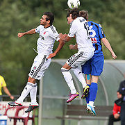 Besiktas's Veli KAVLAK (L) during their new season friendly soccer match Besiktas between Otelul Galati at Tegelen SC Stadium in  Holland on Sunday August 07, 2011. Photo by TURKPIX