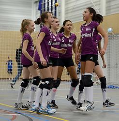 03-01-2015 NED: Nationale Open Clubkampioenschappen Volleybal 2015, Harderwijk<br /> Niet minder dan 491 jeugdteams, verdeeld over 27 sporthallen, begonnen aan de Nationale Open Clubkampioenschappen (NOJK) van 2015 / De jongens C en meisjes B/C in actie in de Sypel te Harderwijk / Twente 05 - Halley
